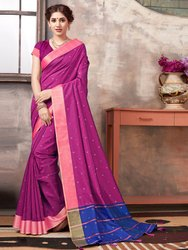 Traditional Banarasi Silk Weaving  Saree With Blouse Piece