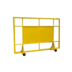 Yellow Sliding Road Barricade
