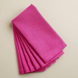 Pink Cotton Plain Napkin
