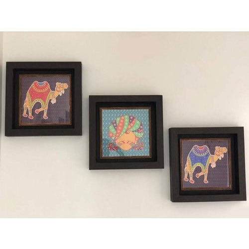 Printed Framed Pictures Indian Ethnic Art Wooden Frame Wall Decor Painting For Decoration Rs 1400 Piece Id 22409214655