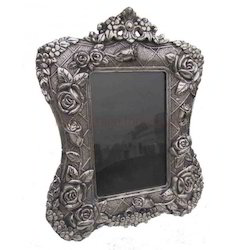 White Metal Meena Photo Frame