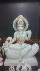 Goddess Gayatri Marble Statue