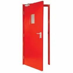 GSK Fabtech Red Powder Coated Fire Resistance MS Door