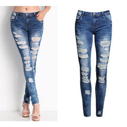 Cool Vingate Women Blue Denim Rugged Jeans