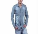 Men Designer Denim Shirt