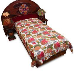 Thread Work Single Bed Sheet 505