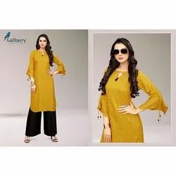 Designer Ladies Rayon Butti Work Kurti
