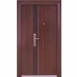 Brown Laminated Steel Safety Door, For Home,Hotel etc, Thickness: 50 To 90mm