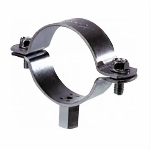 Silver Stainless Steel Unlined Steel Pipe Clamp, Size ...