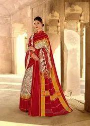 Designer Pashmina Silk Saree & Shawl Combo