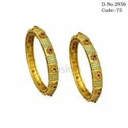 Traditional Mint Green Copper Bangles