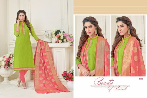 5752b7eb0e As Shown In Image Kanchipuram Silk Salwar Suit-12 Piece, Rs 884 ...