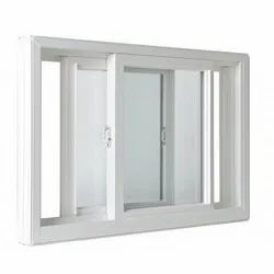 White UPVC Glass Sliding Window, Thickness Of Glass: 5 to 40mm, for Home,Office etc