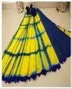 Yellow And Blue Women Saree Mol003