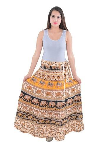 7e2651aa5e Women Indian White Round Cotton Mandala Rapron Skirts, Rs 220 /piece ...