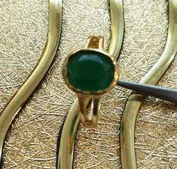 Natural Emerald Panchdhatu Gemstone Ring