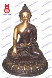 Lord Buddha Sitting Sakyamuni On Oval Base Statue