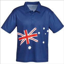 Blue Sublimation Customized T-Shirt