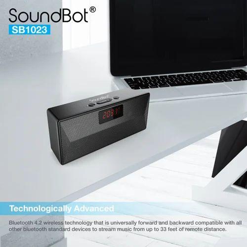 Soundbot Sb1023 Fm Radio Alarm Clock Bluetooth Speaker