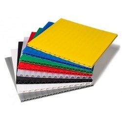 Multicolor Plastic Corrugated Sheet