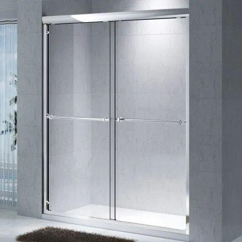 Anodized Aluminium Glass Bathroom Door, Size/Dimension: 4 x 6 feet