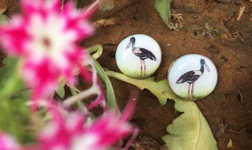 Birds Hand Painted Cufflinks