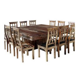 Square Brown 12 Seater Wooden Dining Table Set Rs 75000 Piece Industry 87 Inc Id 21728845112
