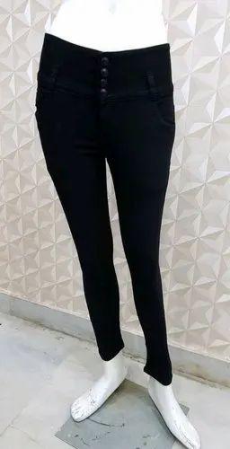 8e7591e90627e Ladies Jeans Black 4botton at Rs 585 /piece - Max Fashions, New ...