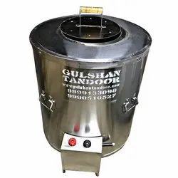 SS Round Gas And Charcoal Drum Tandoor