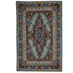 NAQASH Firdous Traditional Hand Embroidered Chainstitch Woolen Rug