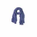 青绿色1.8米印花围巾,宽0.5米