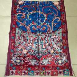 Digital Print Embroidery Stole