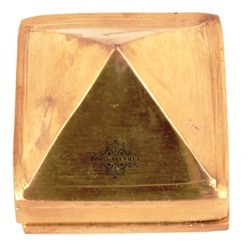 Golden Brass 3 Stage Fengshui Vastu Pyramid