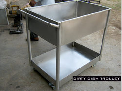 Stainles Steel Dirty Dish Trolley