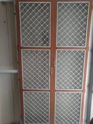 Brown (Frame) Powder Coated Aluminium Grill Door, For Home
