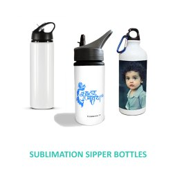 Aluminium White Sublimation Sipper Bottle for Gym