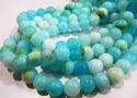 Natural Blue Opal Round Plain Beads