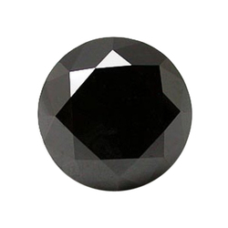 Natural Round Cut Black Diamond