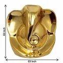 Lord Ganesha Car Dash Board Statue In Golden Look