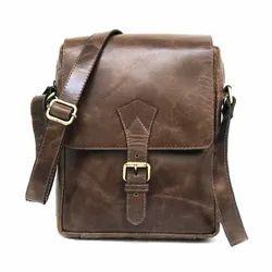 Handmade Genuine Leather Shoulder Messenger Unisex Bag For Short Trip Available For Wholesale