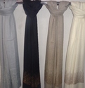Cashmere Crystal Trimmed Tower Design Stole