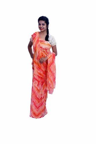 74c40e8d50189 Mutlicolor Rajasthani Multicolor Georgette Leheriya Sari