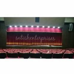 Motorized College Stage Curtains