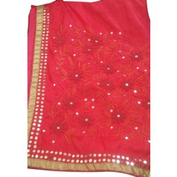 Party Wear Ladies Fancy Bordered Georgette Saree