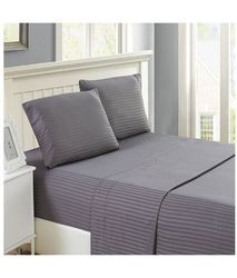Grey Stripe Bed Sheet
