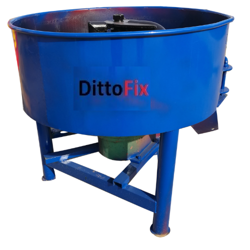 Semi-Automatic Iron Blue Pan Mixer Machine with Roller