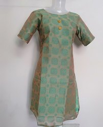 silk Cotton Stitched Designer Party Wear Suit, Handwash