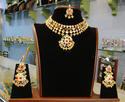 Female Party Wear Bridal Kundan Navratan Set