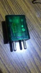 2.4 AMP Green Transparent USB Mobile Charger, Warranty: 6 Months