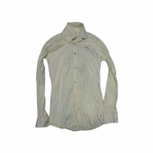 9c8c2b90f Cotton Full Sleeves Mens Plain Light Yellow Shirt, Size: Medium, Rs ...